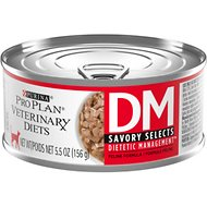 Purina Pro Plan Veterinary Diets DM Savory Selects Dietetic Management Formula Canned Cat Food, 5.5-oz, case of 24