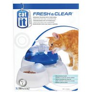 Catit Design Fresh & Clear Drinking Fountain & Food Bowl