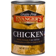 Evanger's Grain-Free Chicken Canned Dog & Cat Food, 20.02-oz, case of 12