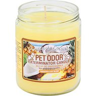 Pet Odor Exterminator Pineapple Coconut Deodorizing Candle, 13-oz jar