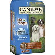 CANIDAE Life Stages Duck Meal, Brown Rice & Lentils Formula Large Breed Adult Dry Dog Food, 30-lb bag