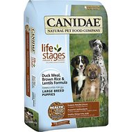 Canidae Life Stages Duck Meal, Brown Rice & Lentils Formula Large Breed Puppy Dry Dog Food, 30-lb bag