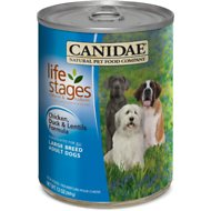 Canidae Life Stages Chicken, Duck & Lentils Formula Large Breed Adult Canned Dog Food, 13-oz, case of 12