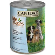 Canidae Life Stages Chicken, Duck & Lentils Formula Large Breed Puppy Canned Dog Food, 13-oz, case of 12