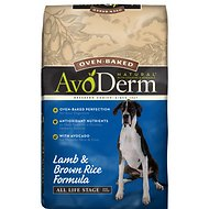 AvoDerm Natural Oven-Baked Lamb & Brown Rice Formula All Life Stages Dry Dog Food, 24-lb bag