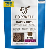 Dogswell Happy Hips Jerky Bars Lamb & Veggies Dog Treats, 32-oz bag