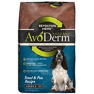 AvoDerm Natural Grain-Free Revolving Menu Trout & Pea Recipe Adult Dry Dog Food, 22-lb bag