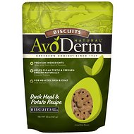 AvoDerm Natural Duck Meal & Potato Recipe Biscuits Dog Treats, 20-oz bag