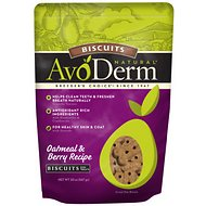AvoDerm Natural Oatmeal & Berry Recipe Biscuits Dog Treats, 20-oz bag