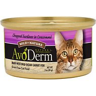 AvoDerm Natural Wild by Nature Grain-Free Chopped Sardines in Consomme Canned Cat Food, 3-oz, case of 24