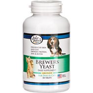 Four Paws Brewers Yeast Garlic Flavor Tablets, 1000 count