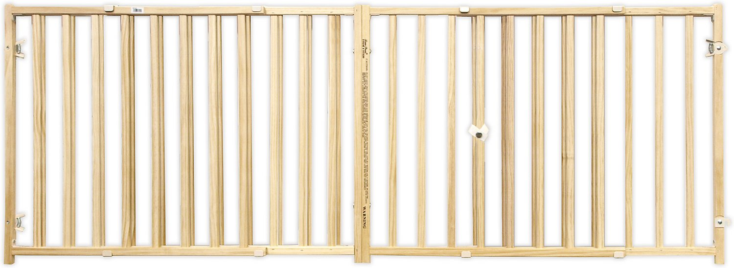 four paws extra wide wood safety gate  chewycom - four paws extra wide wood safety gate