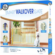 Four Paws Smart Walk-Over Wood Gate
