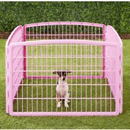 IRIS 4-Panel Exercise Plastic Play Pen, Pink