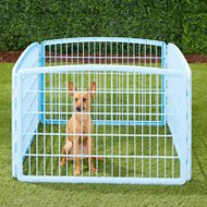 IRIS 4-Panel Exercise Plastic Play Pen, Blue