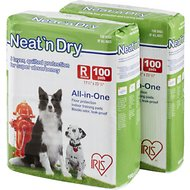 IRIS Neat 'n Dry Floor Protection & Training Pads, Regular, 200 count