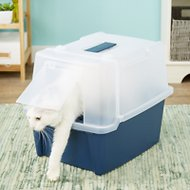 IRIS Split Hood Cat Litter Box & Scoop