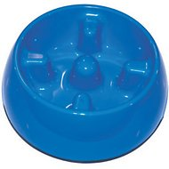 Dogit Go Slow Anti-Gulping Dog Bowl, Blue, Small