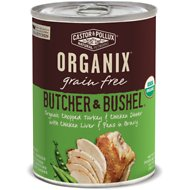 Castor & Pollux Organix Grain Free Butcher & Bushel Chopped Turkey & Chicken Dinner All Life Stages Canned Dog Food, 12.7-oz, case of 12
