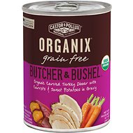 Castor & Pollux Organix Grain Free Butcher & Bushel Carved Turkey Dinner in Gravy All Life Stages Canned Dog Food, 12.7-oz, case of 12