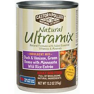 Castor & Pollux Natural Ultramix Duck & Venison, Green Beans with Minnesota Wild Rice Entree Grain-Free Adult Canned Dog Food, 13.2-oz, case of 12