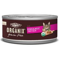 Castor & Pollux Organix Grain-Free Turkey Pate Recipe All Life Stages Canned Cat Food, 5.5-oz, case of 24