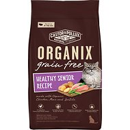 Castor & Pollux Organix Healthy Senior Recipe Grain-Free Dry Cat Food, 4-lb bag