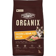 Castor & Pollux Organix Chicken & Brown Rice Recipe All Life Stages Dry Cat Food, 4-lb bag