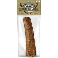 Big Sky Antler Chews Natural Elk Antler Dog Chews, Large