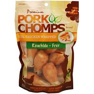 Premium Pork Chomps Chicken Flavor Wrapped Drumsticks Dog Treats, 2.5-in, 8 count