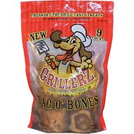 Grillerz Bag O' Bones Dog Treats, 9 count
