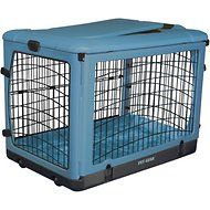 Pet Gear The Other Door Steel Crate & Plush Pad, Ocean Blue, Small