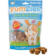YumZies Peanut Butter Flavor Grain-Free Dog Treats, 8-oz bag