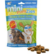 YumZies Mini Peanut Butter Flavor Grain-Free Dog Treats, 8-oz bag