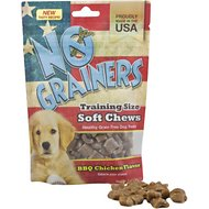 No Grainers BBQ Chicken Flavor Training Size Soft Chews Grain-Free Dog Treats, 5-oz bag