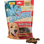 No Grainers BBQ Chicken Flavor Soft Chews Grain-Free Dog Treats, 16-oz bag