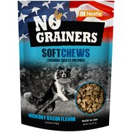 No Grainers Hickory Bacon Flavor Training Size Soft Chews Grain-Free Dog Treats, 5-oz bag