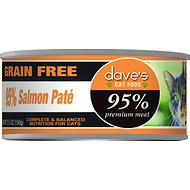 Dave's Pet Food 95% Premium Meat Grain-Free Salmon Pate Canned Cat Food, 5.5-oz, case of 24
