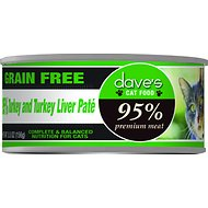 Dave's Pet Food 95% Premium Meat Grain-Free Turkey & Turkey Liver Pate Canned Cat Food, 5.5-oz, case of 24