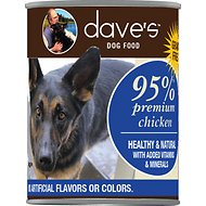 Dave's Pet Food 95% Premium Meats Grain-Free Chicken Recipe Canned Dog Food, 13-oz, case of 12