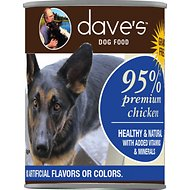 Dave's Pet Food 95% Premium Chicken & Chicken Liver Canned Dog Food, 13-oz, case of 12 (original)