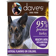 Dave's Pet Food 95% Premium Meats Grain-Free Turkey Recipe Canned Dog Food, 13-oz, case of 12