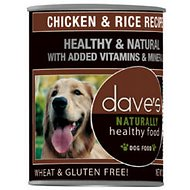 Dave's Pet Food Naturally Healthy Chicken & Rice Recipe Canned Dog Food, 13.2-oz, case of 12