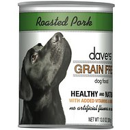 Dave's Pet Food Grain-Free Roasted Pork Dinner Canned Dog Food, 13-oz, case of 12