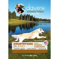 Dave's Pet Food Grain-Free Countryside Blend with Fresh Chicken Dry Dog Food, 4-lb bag