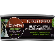Dave's Pet Food Naturally Healthy Grain-Free Turkey Formula Canned Cat Food, 5.5-oz, case of 24