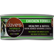 Dave's Pet Food Naturally Healthy Grain-Free Chicken Formula Canned Cat Food, 5.5-oz, case of 24