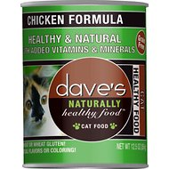 Dave's Pet Food Naturally Healthy Grain-Free Chicken Formula Canned Cat Food, 12.5-oz, case of 12