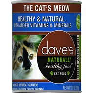 Dave's Pet Food Naturally Healthy Grain-Free The Cat's Meow Canned Cat Food, 13-oz, case of 12