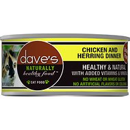 Dave's Pet Food Naturally Healthy Grain-Free Chicken & Herring Dinner Canned Cat Food, 5.5-oz, case of 24